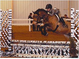 """Lets Dance"" (aka Chiquita) with owner/rider Sarah up"