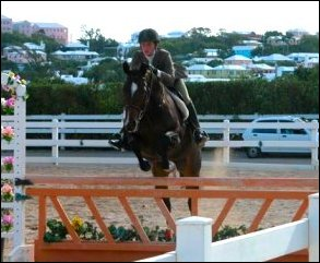 """Sable"" with owner/rider Kelby up"